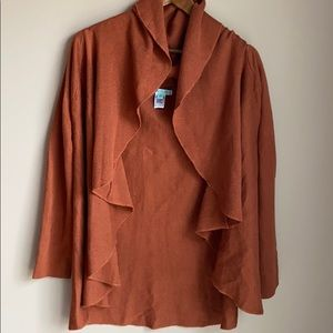 She & Sky Open Front Cardigan M